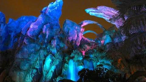 Glowing bioluminescence in Pandora - The World of Avatar at night, Walt Disney World