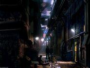 Future Earth alley concept art