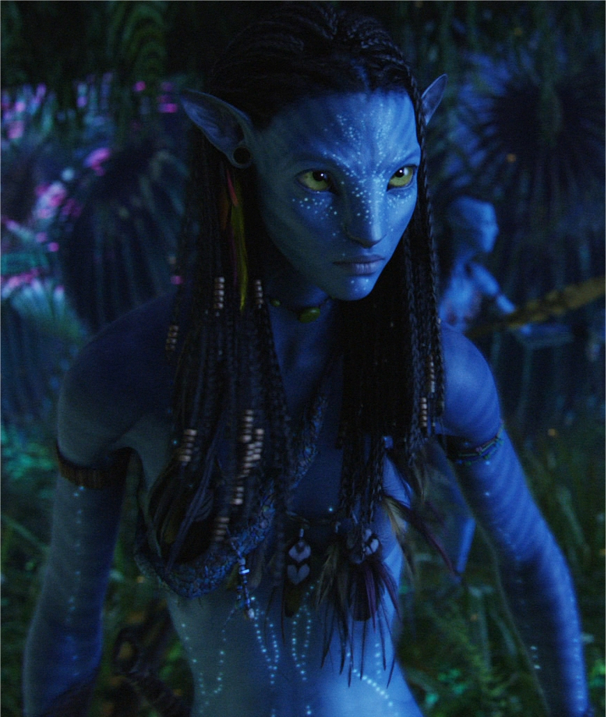 Avatar Costume Mask Standard Mens BRAND NEW Jake Sully Blue Alien JAMES CAMERON!