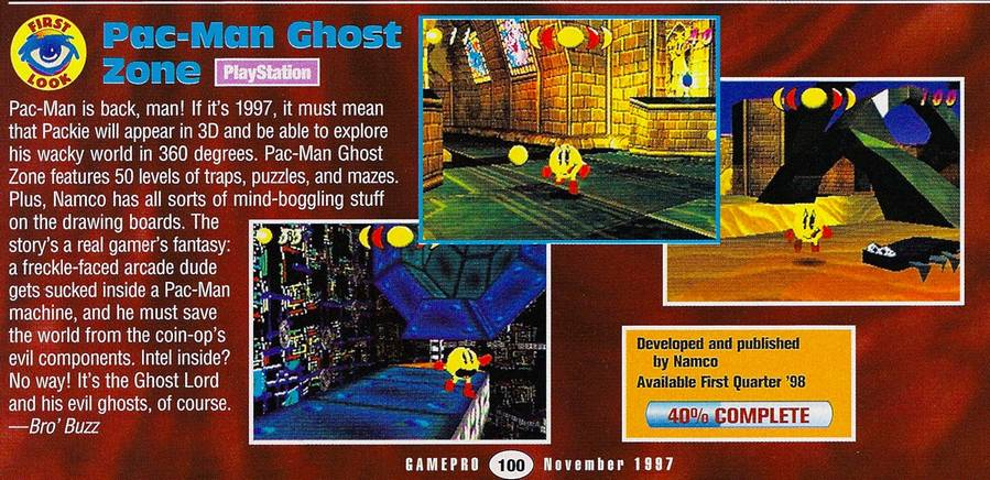 Pac Man Ghost Zone (Cancelled game