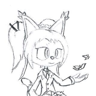 Honey the Cat (Parfait) Sketch
