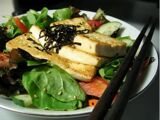 Golden Tofu Salad with Carrots and Hijiki