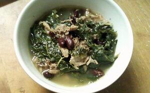 Kale azuki beans