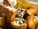 Daigaku Imo with Honey (Fried sweet potato with honey) by Elle Bee