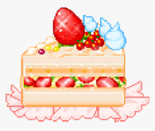 266-2666402 kawaii-food-cake-pixelated-cute-foodkawaii-pixel-strawberry