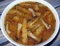 Creamy enoki soup2