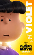 The Peanuts Movie Violet poster
