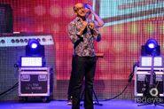 Ian Hawke on stage