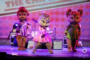 The Chipettes performing live