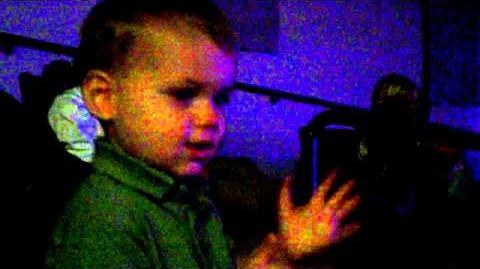 Alden enjoying Veggie Tales Live