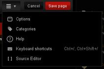 Source Editor in VE dropdown