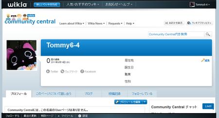 Community screenshot user-profile my-blank-page