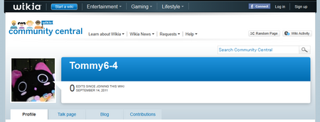 Community screenshot user-profile other-blank-page
