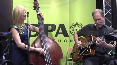 """Just in Time"" Kristin Korb- bass and Bruce Forman- guitar, jazz duo at DPA Microphones NAMM 2012"