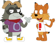 Bubsy and Rayman Jim Jinkins style