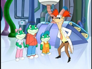 Leap, Lily, Tad, and Prof. Quigsly