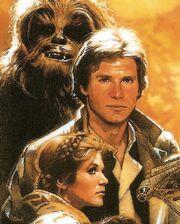 Chewie Han Leia