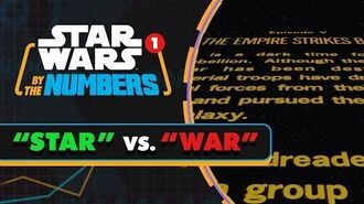 Star' Vs. 'War' in the Star Wars Movies Star Wars By the Numbers