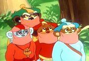 Vier Ewok-Jindas