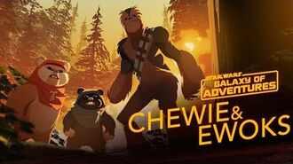 Chewie and Ewoks - Hijacking a Walker Star Wars Galaxy of Adventures