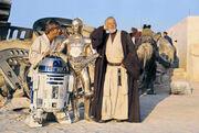 Drehpause R2 Luke 3PO Obi-Wan Jerba