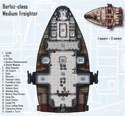 Barloz-Klasse Frachter Grundriss