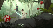 Rey wird von Leia trainiert