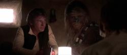 Han und Chewie in der Mos Eisley Cantina