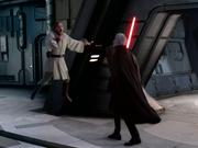 Dooku würgt Obi-Wan