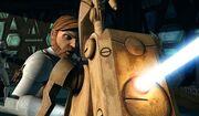 Obi-Wan kämpft gegen Droiden