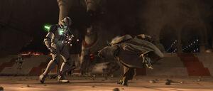 Yoda-Schwertwurf