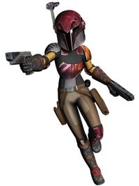 Sabine in Rüstung