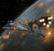 Rebellenflotte gegen Sieges-Klasse