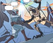 Grievous gegen Obi-Wan auf Caliban