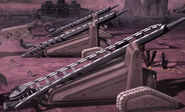 Dug rail gun