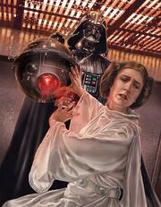 Darth Vader foltert Leia Organa