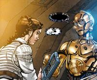 Leia C-3PO Mon Mothmas Protokoll