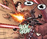 Han und Chewie unter Beschuss