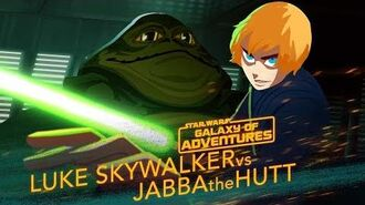 Luke vs. Jabba - Sail Barge Escape Star Wars Galaxy of Adventures