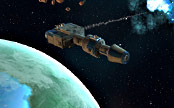 Corellianisches Kanonenboot schießt