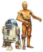 C-3PO R2-D2 Im Fadenkreuz