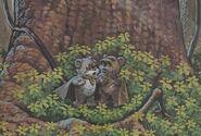 Kneesaa und Wicket Endor-Wald