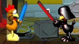 Obi Wan und Darth Moorhuhn