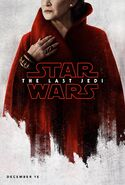 The Last Jedi Teaserposter Leia Organa