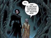 Kylo Ren und Snoke auf Dagobah