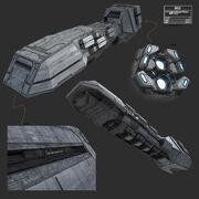 Imperiales Unterstützungsschiff Konzept