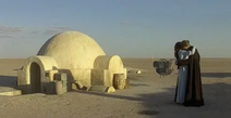 Anakin und Padme auf Tatooine