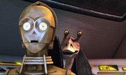 Jar Jar Binks & C-3PO