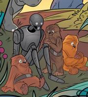 K-2SO und Wookiee-Kinder