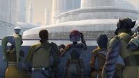 Ghost Crew vor dem Senatsgebäude